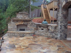 Fireplace Stacked Stone